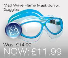 Mad Wave Flame Mask Junior Swimming Goggles