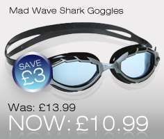 Mad Wave Shark Swimming Goggles
