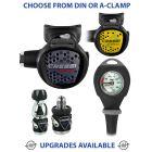 Cressi MC9 Compact Regulator, Compact Octopus & Gauge