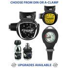 Cressi MC9 SC Compact Pro Regulator, Compact Octopus & Gauge