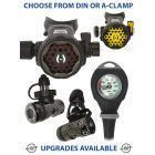 Hollis 200LX + DCX Regulator, 100LX Octopus & Gauge