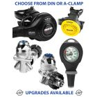 Mares Abyss 22 Navy II Regulator, Rover Octopus & Gauge