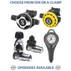 Scubapro MK25 Evo/S600 Regulator with R195 Octopus & Apeks Single Gauge