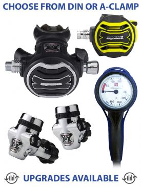 Apeks XTX200 Regulator, XTX40 Octopus & Gauge