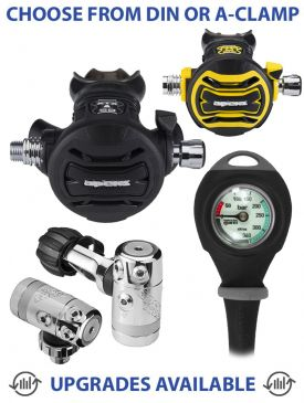 Apeks XTX50 Regulator, XTX50 Octopus & Gauge