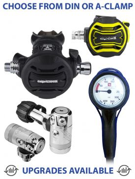 Apeks XTX50 Regulator, XTX40 Octopus & Gauge