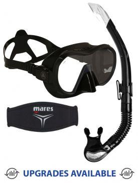 Apeks VX1 Pure Clear Mask, Snorkel & Mask Strap