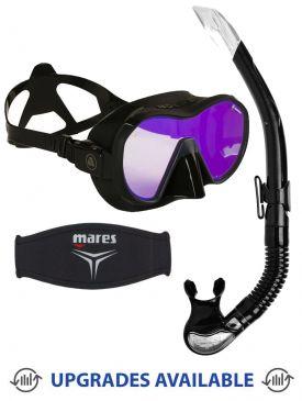 Apeks VX1 UV Mask, Snorkel & Mask Strap