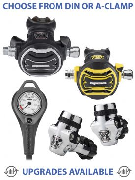 Apeks XTX200 Regulator, XTX50 Octopus & Gauge