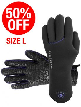 CLEARANCE - 50% OFF - Aqua Lung Ava 6/4mm Gloves - Large