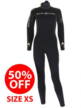 50% OFF - Aqua Lung Dive Jumpsuit 7mm Womens Wetsuit - X-Small