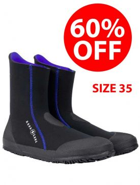 CLEARANCE - 60% OFF - Aqualung Ellie Ladies 5mm Dive Boots  - Size 35