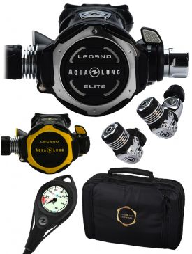 Aqua Lung Leg3nd Elite Regulator, Octopus, Gauge & Bag