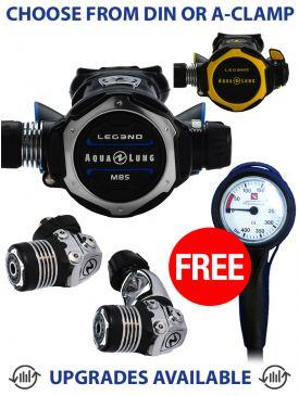 Aqua Lung Leg3nd MBS Regulator, Leg3nd Octopus & Free Gauge