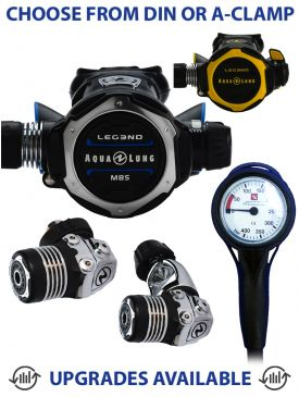 Aqua Lung Leg3nd MBS Regulator, Leg3nd Octopus & Gauge