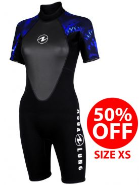 50% OFF - Aqua Lung Mahe Womens Shorty 3mm Wetsuit - Size XS