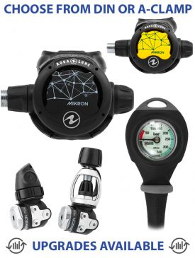 Aqualung Mikron Regulator, Mikron Octopus & Gauge