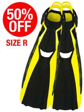 50% OFF - CLEARANCE - Aqua Lung Phazer Fins - Hot Lime, Size Regular