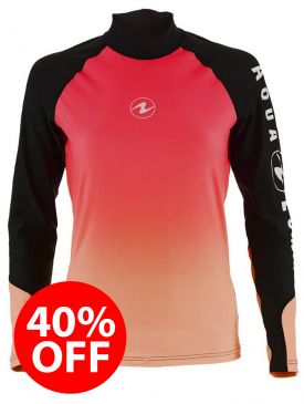 40% OFF - Aqua Lung Rash Vest - Pink Ladies Long Sleeve