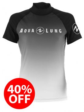 40% OFF - Aqua Lung Rash Vest - White Mens Short Sleeve