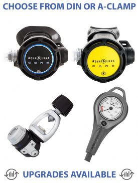 Aqualung Core Supreme Regulator, Core Octopus & Gauge