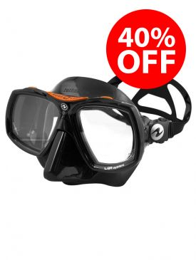 CLEARANCE - 40% OFF - Aqua Lung Look 2 Mask - Black/Orange