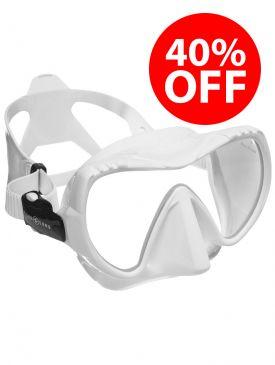 CLEARANCE - 40% OFF - Aqua Lung Mission Midi Mask - White/White