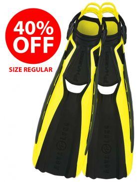 40% OFF - CLEARANCE - Aqua Lung Phazer Fins - Hot Lime, Size Regular