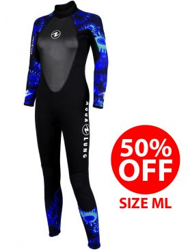 50% OFF - Aqua Lung Womens Bali 3mm Camo Wetsuit - Size ML