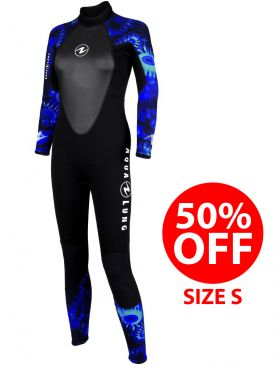 50% OFF - Aqua Lung Womens Bali 3mm Camo Wetsuit - Size S