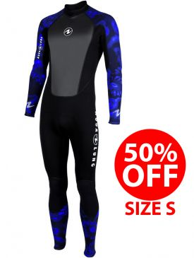 50% OFF - Aqua Lung Mens Bali 3mm Camo Wetsuit - Size S
