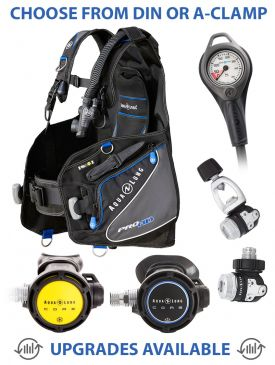 Aqua Lung Pro HD BCD, Core Supreme Regulator, Core Supreme Octopus & Gauge