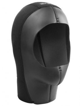 Bare Tech Dry Hood with Zipper - 7mm - Unisex - Black