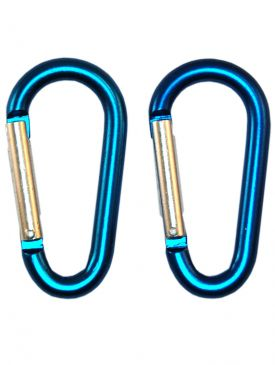 Beaver Round Alloy Carabiners Standard Blue (Pair)