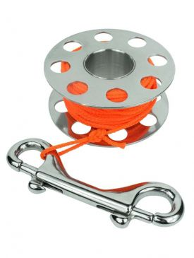 Beaver 15m Stainless Finger Spool - With Line & Bolt Snap