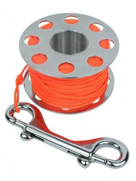 Beaver 30m Stainless Finger Spool - With Line & Bolt Snap