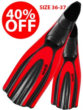CLEARANCE - 40% OFF - Mares Avanti Superchannel FF Fin - Red 36-37