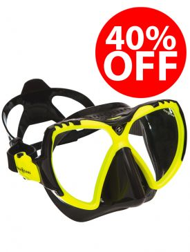 CLEARANCE - 40% OFF - Aqua Lung Mission Mask - Black/Yellow