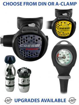 Cressi AC2 Compact Regulator, Compact Octopus & Gauge