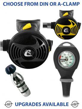 Cressi AC2 XS2 Regulator, XS2 Octopus & Gauge