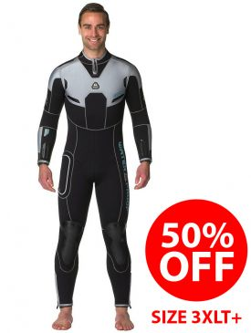 CLEARANCE - 50% OFF - Waterproof W4 5mm Mens Wetsuit 3XLT+