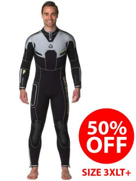 CLEARANCE - 50% OFF - Waterproof W4 7mm Mens Wetsuit 3XLT+