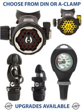Hollis 150LX + DC7 Regulator, 100LX Octopus & Gauge