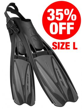 CLEARANCE - 35% OFF - Scubapro Jet Sport Adjustable Fins - Black/Grey - Size Large