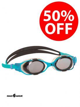 50% OFF - Mad Wave Precize Goggles - Black/Blue