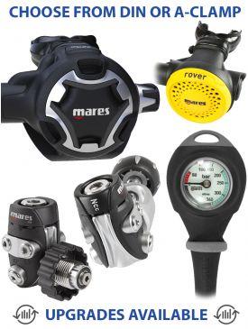 Mares Dual Adj 52X Regulator, Rover Octopus & Gauge