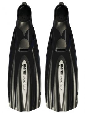 50% OFF CLEARANCE - Mares Avanti Excel Fins - Black, Size 46