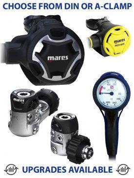 Mares Dual 15X Regulator, Rover Octopus & Gauge