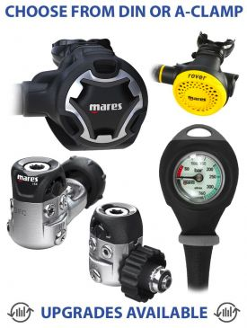 Mares Dual 15X Regulator, Rover Octopus & Gauge