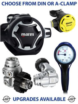 Mares Dual Adj 62X Regulator, Rover Octopus & Gauge